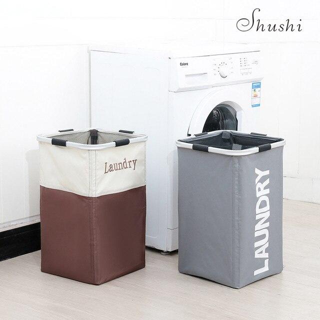 SHUSHI hotselling dobrável cesto de roupa suja grande pano à prova de água saco de roupa de armazenamento panier um linge suja cesto de roupa suja balde