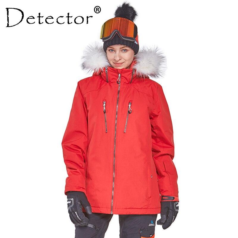 Rivelatore Da Sci di Inverno delle Donne Giacca Da Snowboard Impermeabile Antivento del Cappotto Esterno Abbigliamento Da sci Vestiti Caldi