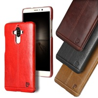 Pierre Cardin Genuine Leather Back Funda Vintage Case Cover For Huawei Mate 9 P9 Plus Capa