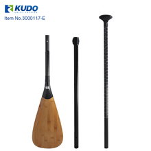 High Quality 3-Piece Carbon Bamboo SUP Paddle Adjustable for Inflatable Stand Up Boards Paddle Water Surfing Sports цены