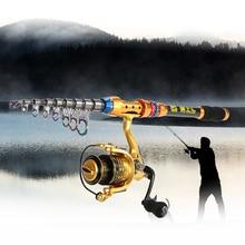 Lixada Portable Lure Rod Set Spinning Rod Fishing Reel Combos Full Kit 2.1/2.4/2.7/3M Fishing Rod Pole Reel Line Lures Hooks Bag