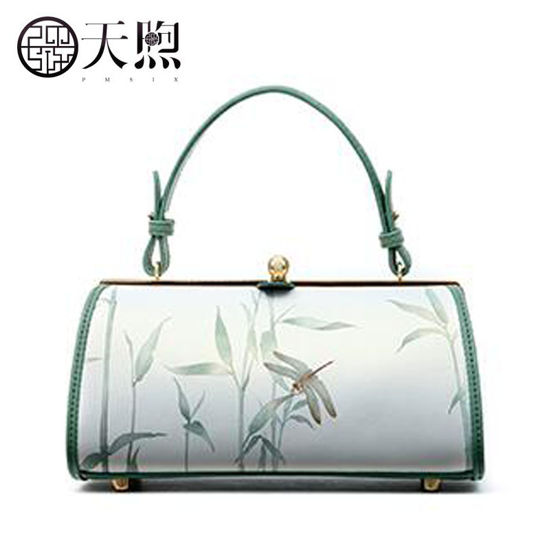 Pmsix 2019 New women leather handbags famous brand women Leather Luxury printing Pillow bag fashion tote bags women leather bagPmsix 2019 New women leather handbags famous brand women Leather Luxury printing Pillow bag fashion tote bags women leather bag