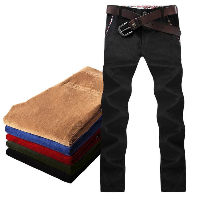 K18/P60 outono calças de veludo cotelê, calça casual versão masculina Coreano de Slim calças retas longas Dongkuan