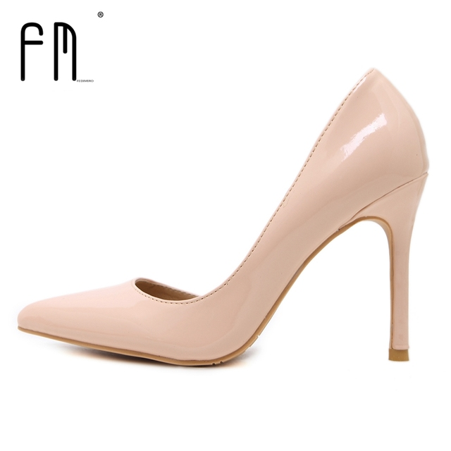 FEDIMIRO Woman Pumps Summer High heels Pointed Toe Female Wedding Shoes Sexy High Heel shoes for women 8 colors