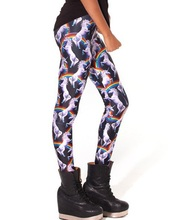 New Women Slim Hip Leggings Pants Sexy Rainbow Horse Fitness Yoga Trousers Elastic Digital Print Girl Lady Breathable Tights