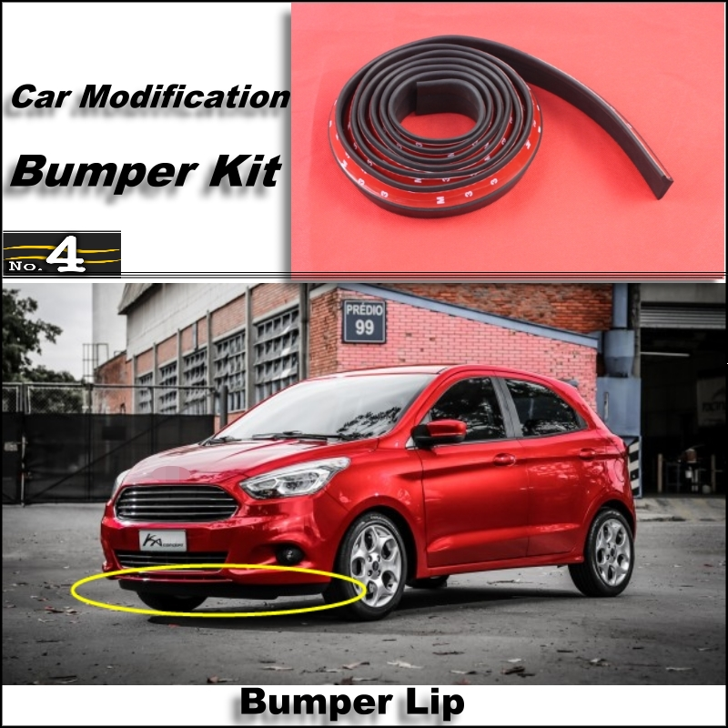 Bumper Lip For Ford Ka Sport Ka Mk Front Spoiler Skirt Bumper Kit Deflector Lips Car Scratch Proof Adhesive Strip In Styling Mouldings From