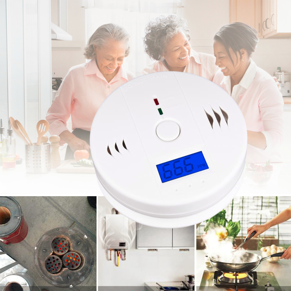 New Home Safety CO Carbon Monoxide Poisoning Smoke Gas Sensor Warning Alarm Detector Kitchen High Quality Hot Search Party Gifts