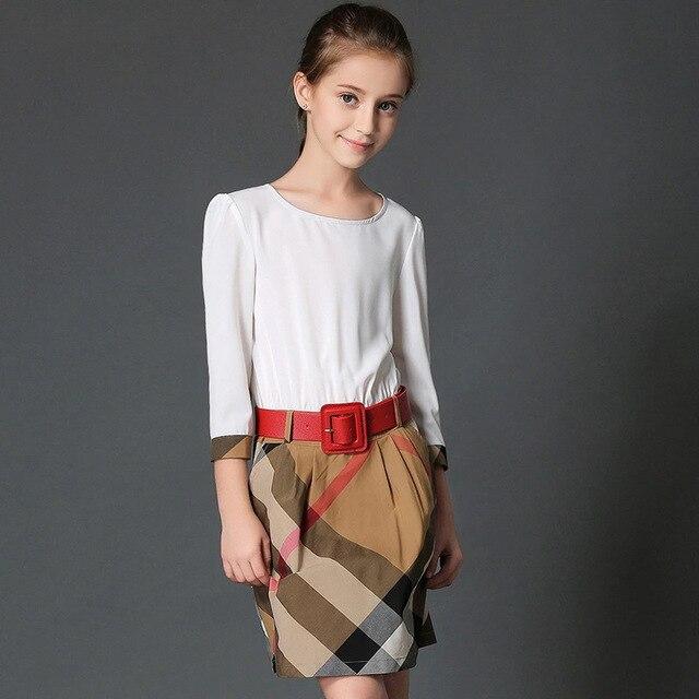 8a7c1b566b66a Adolescente filles robes d été 13 ans britannique style robes de partie  enfants costumes pour