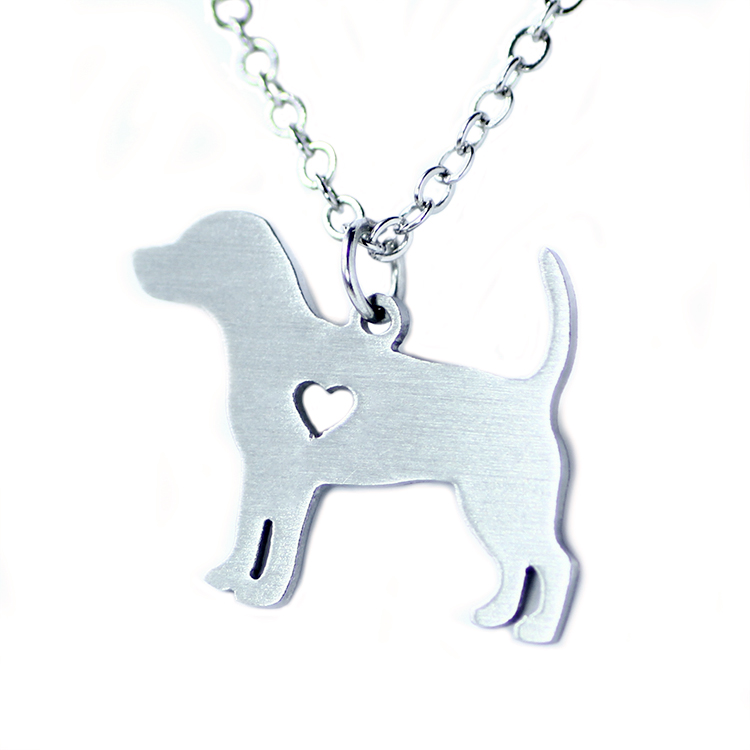 SUTEYI 2017 Simple fashion sweater chain pendant necklace pet beagle dogs dog tag necklace stainless steel animal necklace ...