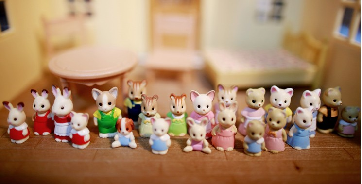 super mini 20pcs/set Simulation  model toy  scene Decoration  family cat rabbit squirrel dog figure simulation mini golf course display toy set with golf club ball flag