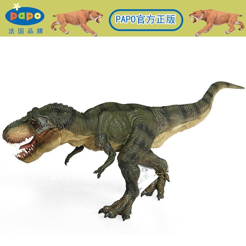 Papo Green Running T Rex Dinosaur Model Museum Collection Jurassic