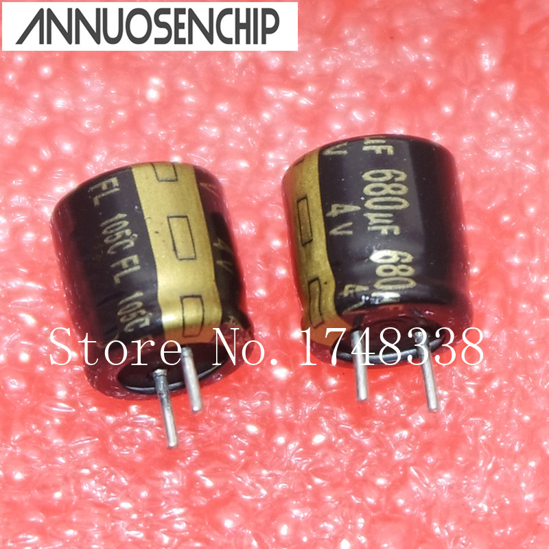 100PCS High frequency <font><b>4V</b></font> <font><b>680UF</b></font> 8X8mm Aluminum electrolytic <font><b>680uF</b></font> <font><b>4V</b></font> 8*8mm 105C <font><b>capacitors</b></font> image