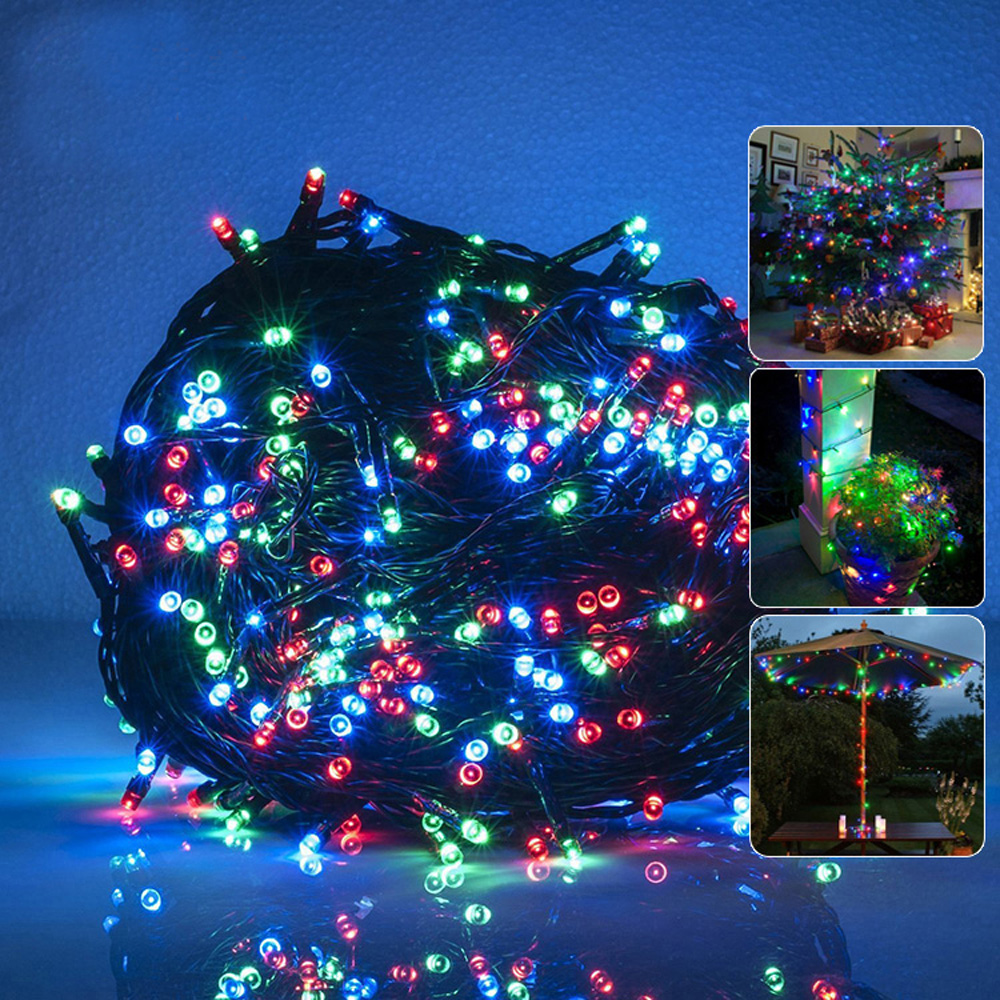 22M 200 LED Solar Strip Light Outdoor Lighting Fairy Holiday Christmas Party Garlands Solar Light Waterproof Outdoor Wedding