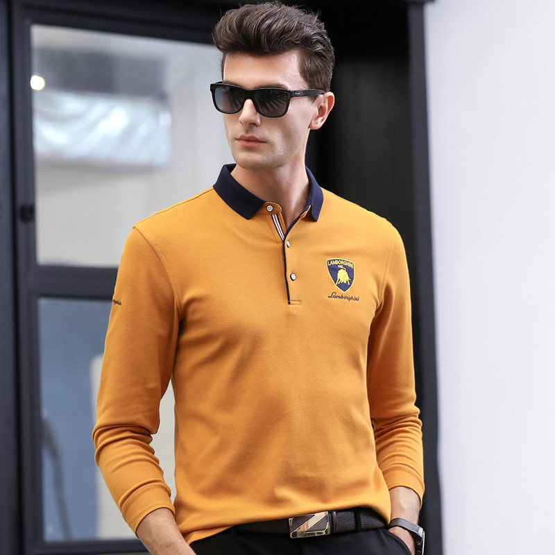 Man Polos Brand Solid Cotton Long Sleeve Embroidery Camisas Polo Shirt Men 2018 Hot Sale Breathable Slim Casual Tops Homme