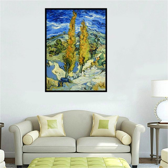 Van gogh famous painting reproduction landscape oil painting canvas print for office room decor art wall