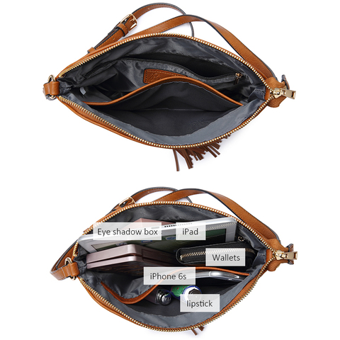 REALER women shoulder bags artificial leather messenger bags for ladies with tassel high quality crossbody bag female fashion Multan