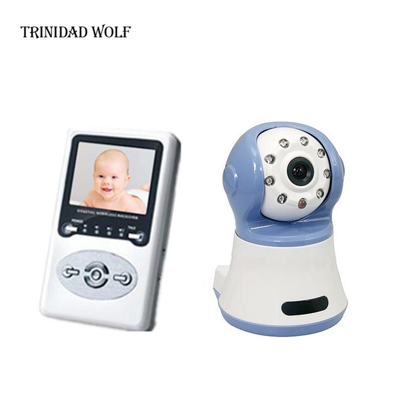 TRINIDAD WOLF 2.4 LCD Wireless Video Baby Monitor Security Kit Two Way Speaker 200M Digital wireless audio Baby Camera Monitor