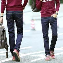 High quality!Men autumn/winter fashion classic plus size duck blue plus velvet thickness jeans,all-match jeans