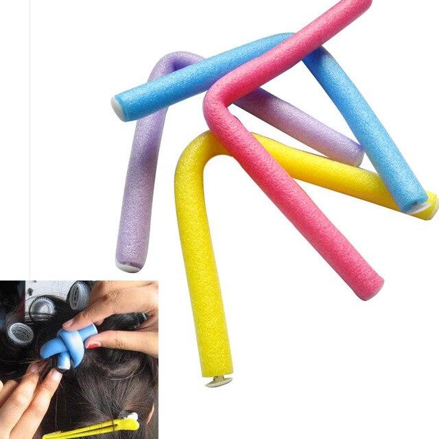 10 PCS Rolos de Cabelo Encrespador Makers Espuma Macia Bendy Torção Curls DIY Hair Styling (cor aleatória) a804 03
