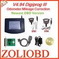 DHL Livre 2016 de melhor qualidade mais novo digiprog 3 v4.94 digiprog3 Odómetro ferramenta correção quilometragem digiprog iii com interface OBD