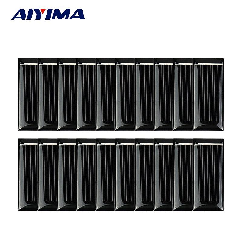 AIYIMA 20Pc Poly Solar Panel 48x21MM 0.5V 185MA Solar Panel China DIY Battery Charger