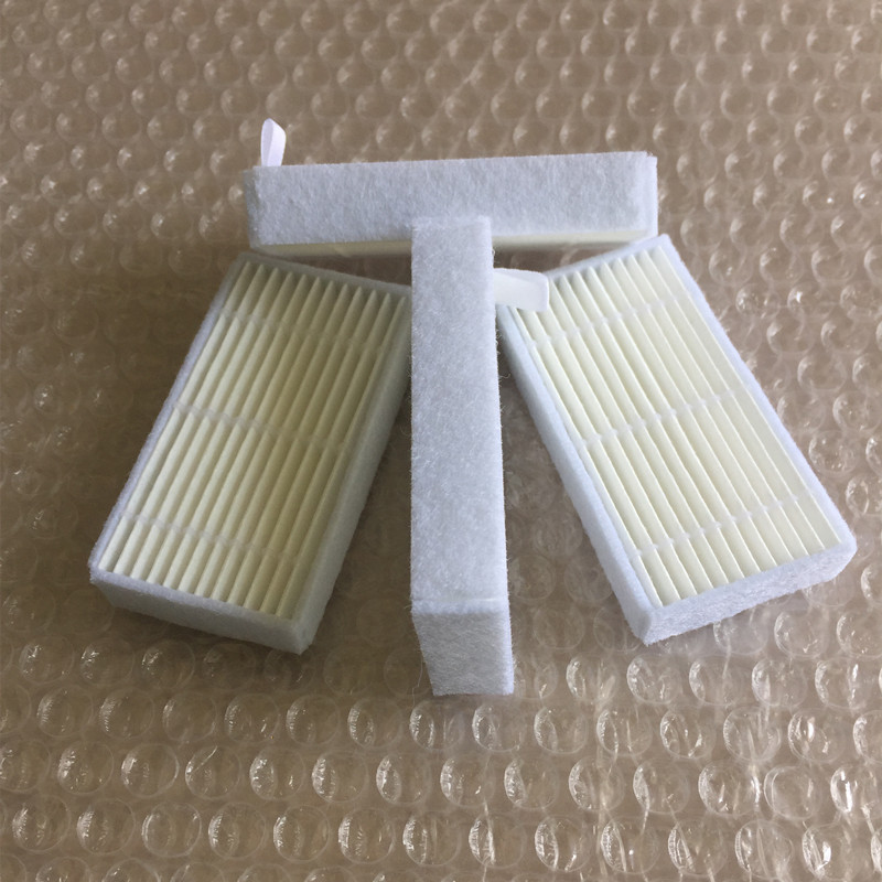 4 pieces/lot Robot Vacuum Cleaner HEPA Filter replacement for ilife v1 Robotic Cleaner Parts robot vacuum cleaner hepa filter for lg vr65710 vr6260lvm vr6270lvm robotisc cleaner