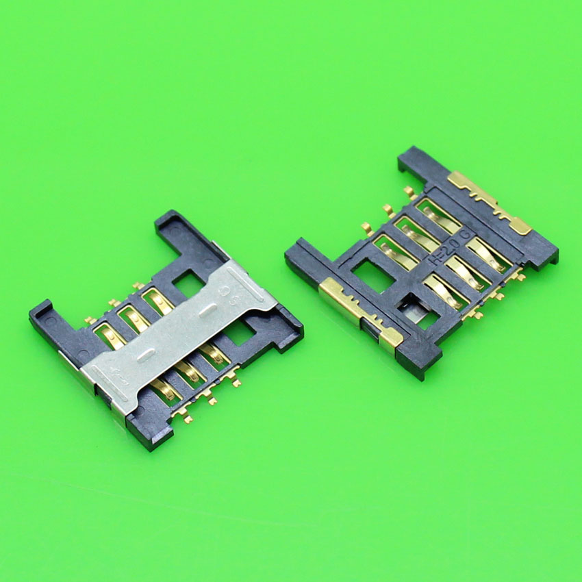 ChengHaoRan 1Piece,Best price sim card socket replacement for cell phone memory holder connector, size:16.5*16.5*1.8mm,KA-004