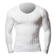 Knitted Tshirt Men Slim Fit Sweater Casual Tee Shirt Pullover V Neck Knitting T-shirt Fashion Solid Warm Top Plus Size 3XL 2018
