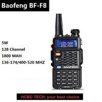 BAOFENG BF F8 Walkie Talkie 10 KM UHF VHF Dual Band Portable CB Radio 1800MAH Police Scanner Mobile Transceiver Similar GT 3