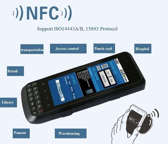 Ls388t ручной промышленных КПК 13.56 мГц RFID NFC считыватель с WI-FI Bluetooth GSM/3G