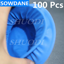 100 Pcs Disposable Dental Rubber Dam Cheek Retractor Rubber Barrier Sterile Control Oral Care Teeth Whitening