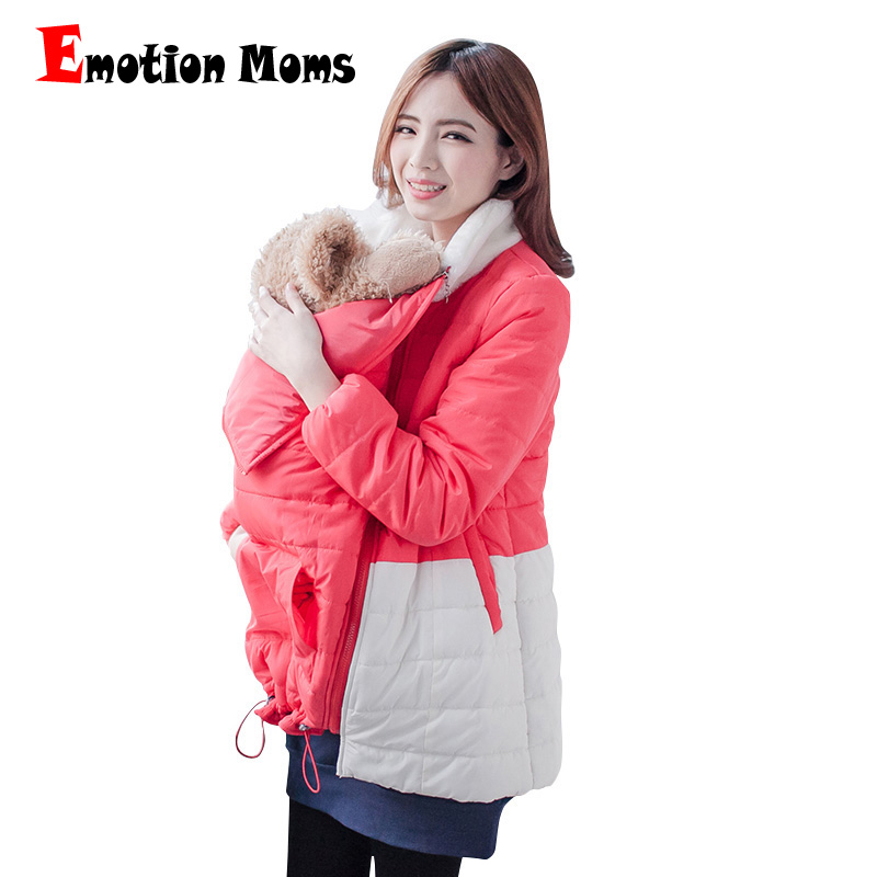 Emotion Moms Winter Maternity Clothes Maternity Coat nursing Clothes For Holding For Pregnant Women feeding Jackets 2 in 1 use