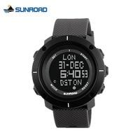 SUNROAD Fashion Sport Watch Men Waterproof ECO Digital Stopwatch Alarm Wrist Watch Clock Hours Backlight Saat Relogio Masculino