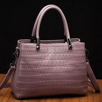 Fashion Women's Shoulder Top Handle Bag Soft Genuine Leather Designer Luxury Handbag  Shoulder Messenger Bucket Bag  Satchel New