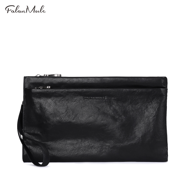 New Arrival Luxury Famous Brand Male Clutch Genuine Leather