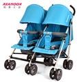 Venta directa nuevo estilo Gemelos cochecito de bebé plegable ligero del paraguas coche amortiguadores en las cuatro estaciones doble cochecito de bebé