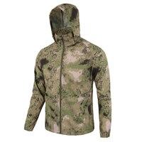 Hombres verano ligero piel chaqueta táctica impermeable rápido seco impermeable chaqueta militar de camuflaje transpirable Windbreake