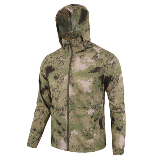 Men Summer lightweight Jacket Skin Tactical Thin Waterproof Quick Dry Raincoat Military Jacket Camouflage Breathable Windbreake