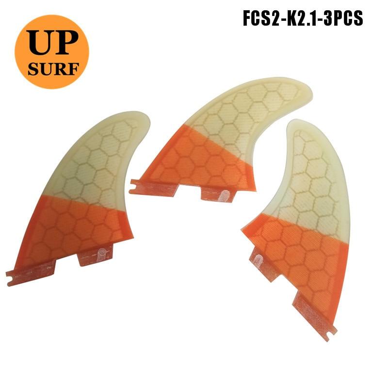 FCS2 Surf Fin Fin FCSII K2.1 Fibra di vetro Fin Honeycomb Barbatanas - Sport acquatici