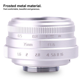 Nowy przyjeżdża fuji an 35mm f1 6 C zamontować obiektywy kamery przemysłowej II dla N1 fuji film fuji NEX Micro 4 3 EOSM srebrny tanie i dobre opinie KEFU 12 Ostrza Człowieka Standardowy prime Stałej ogniskowej obiektywu Instrukcja F16 0 Kamera 2015 Brak 101g-150g cctv 35mm