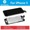 LCD Display with Touch Screen Digitizer For iPhone 5 Assembly Replacement with smart part Front Camera & Home & Ear Speaker