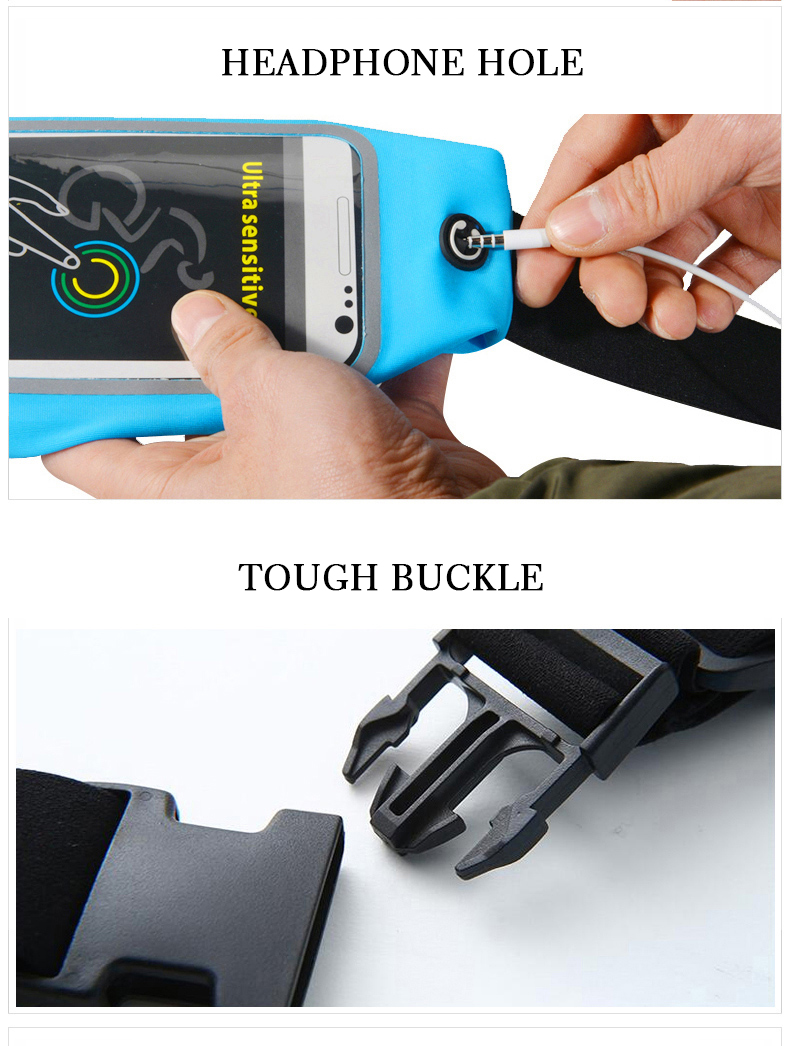 ROCKBROS Waterproof Running Bag Waist Bag Sport Belt Bags 5.8-6 Inch Phone Pouch Case Bags For IPhone 6 7 Plus Sport Accessories 14