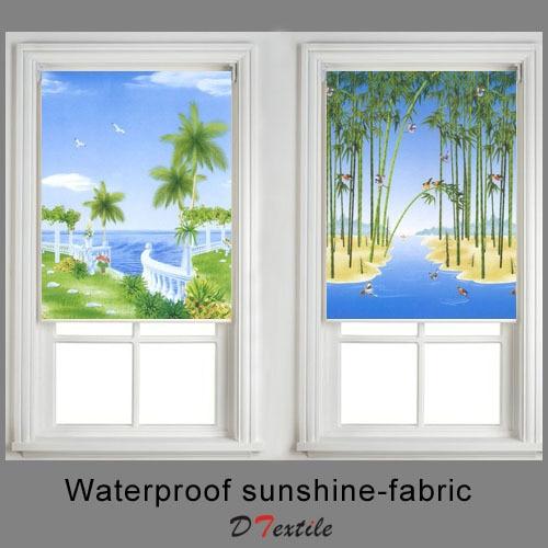 Waterproof Sunshine Fabric Summer Ocean Scenery Drawing Finished