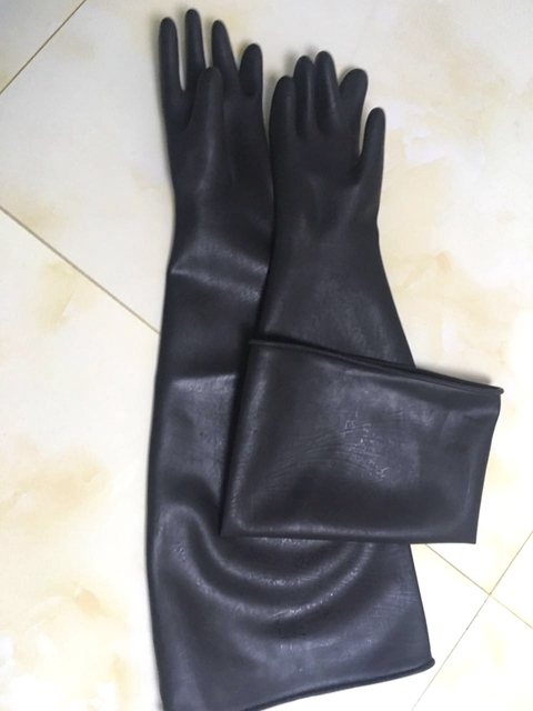sand blasting gloves 80cm x30cm for sandblast cabinet gloves