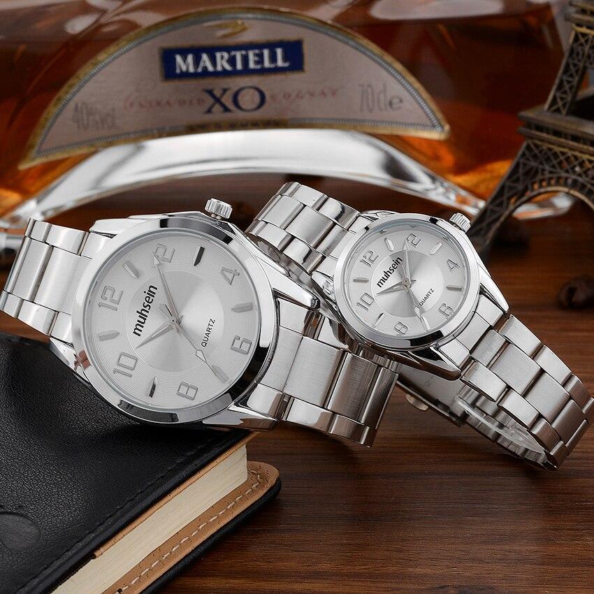 2018  Muhsein Luxury Business Waterproof Stainless Steel Business Watch Quartz Watch Sport Watch Ladies&men Fashion Watch