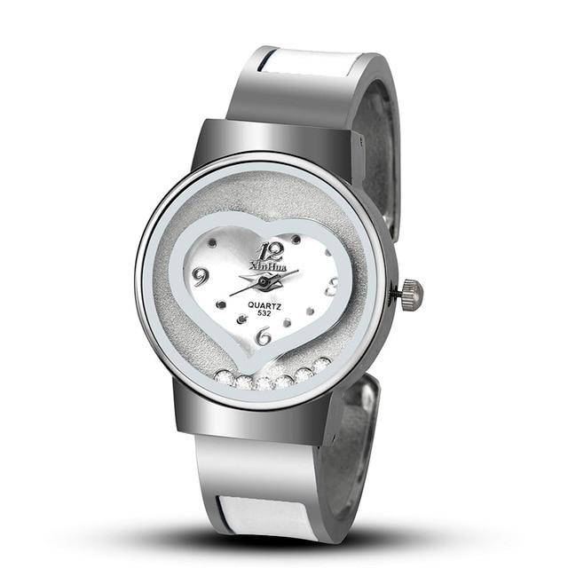 2018 New Hot Sell XINHUA Bracelet Watch Women Blue Luxury Brand Stainless Steel
