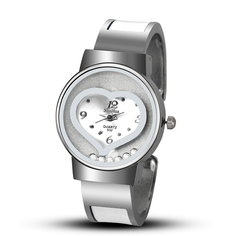 2019 New Hot Sell XINHUA Bracelet Watch Women Blue Luxury Brand Stainless Steel Dial Quartz Wristwatches Ladies Fashion Watches