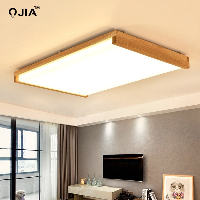 Dimmer led ceiling light with Ultra-thin 6cm wood mission lighting for living room bedroom flush mount home Decorative LampshadeDimmer led ceiling light with Ultra-thin 6cm wood mission lighting for living room bedroom flush mount home Decorative Lampshade