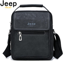 JEEP BULUO Brand Hot Sale Men Messenger Shoulder Bags Leather Totes Classic Black Crossbody Bag New Business Man's Handbag Male