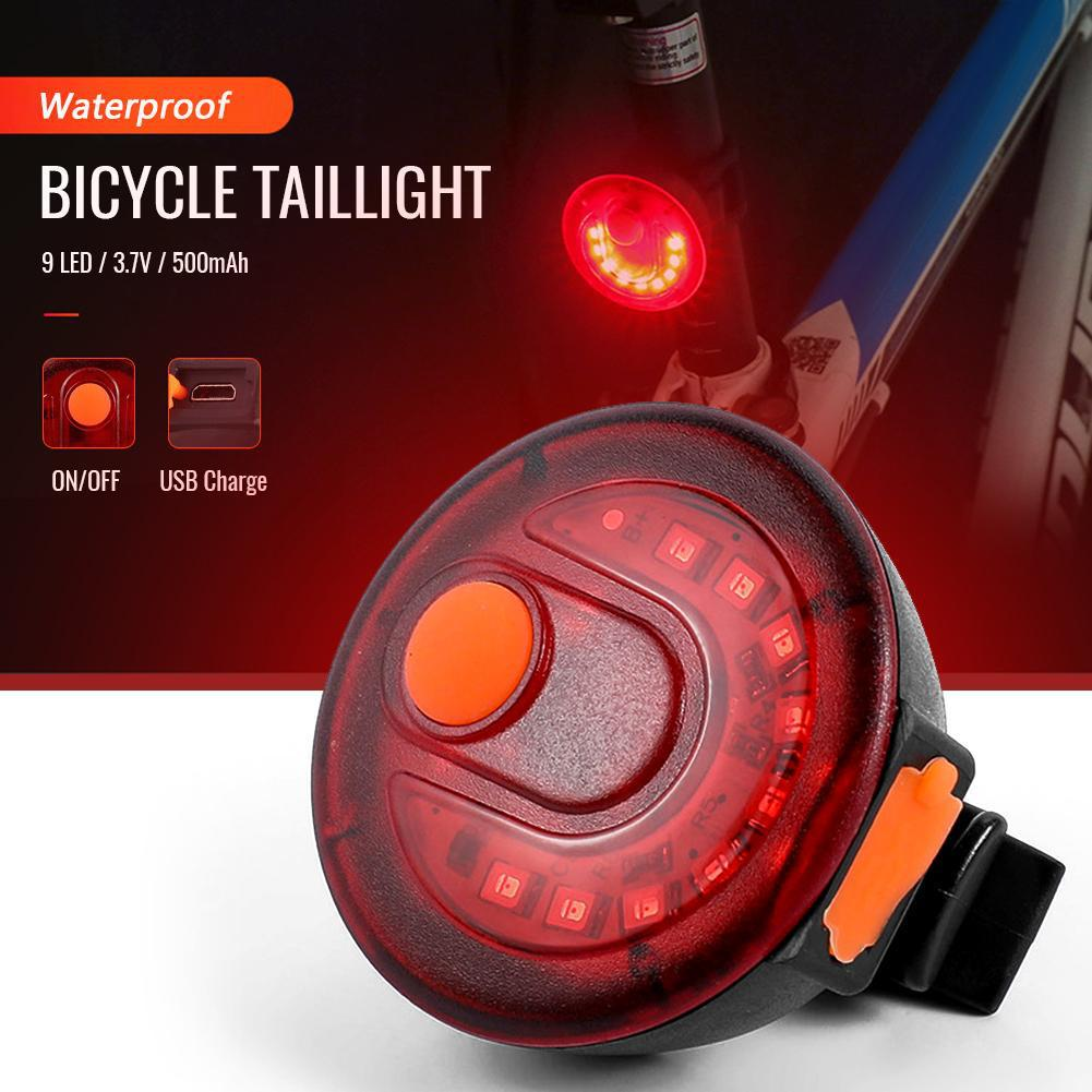 Bike Taillight Rear Alarm Bicycle Lights On For MTB Mountain Road Bike Cycling Light Rechargeable LED Lamp Safety Torch Taillamp